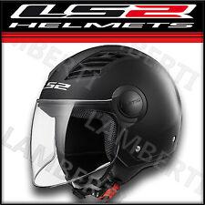 LS2 OF562 AIRFLOW CASCO DEMI JET MOTO SCOOTER NERO OPACO TAGLIA XS S M L XL XXL
