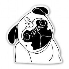 Pug Cute Face Car Vinyl Sticker - SELECT SIZE