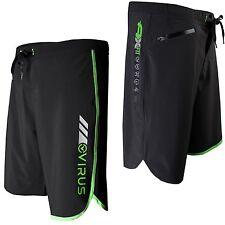 Virus ST1 Men's Airflex Cool Training BLACK/GREEN Shorts,Crossfit,MMA,BJJ,Gym
