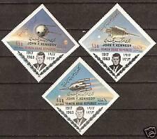 YEMEN  M: # 332-334 PRESIDENT JOHN F. KENNEDY SPACECRAFT  ROCKET
