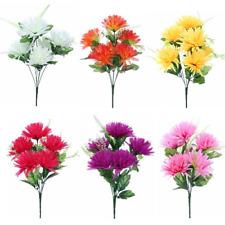 Spiky Chrysanthemum Bush (X5 Bushes) Artificial/Silk