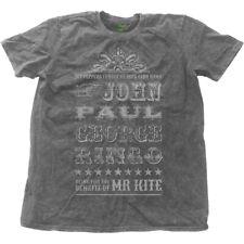 THE BEATLES' MR KITE ' Snow Wash T-Shirt - NUOVO E ORIGINALE