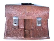 alte braune Herren LederTASCHE AKTENTASCHE 1950-70 Tasche Gepäck Handtasche