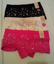 New-SO-Boyshort-Style-Panties-Choose-Color-&-Size-XS-S-M-L-XL-Shiny-Silver-Stars