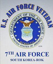 7TH AIR FORCE*SOUTH KOREA ROK*U.S.AIR FORCE VET W/ AIR FORCE EMBLEM*SHIRT