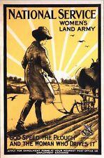 Vintage World War Two Women's Land Army Recruitment Poster A3/A2/A1 Print