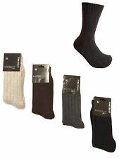 Men's Socks 2 / 3 / 6 Pairs Fisherman Rib Thermal Lambswool Winter UK 7.5 - 8.5
