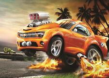 138958 HOT WHEELS RACING CAR Wall Poster Print Affiche