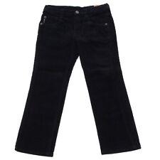 6037R Pantaloni blu bimbo ARMANI JUNIOR cotone velluto  trousers pants kids
