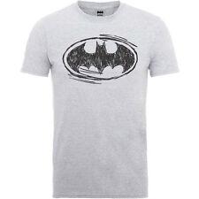 BATMAN SKETCH BAT MOTIF OFFICIAL DC COMICS COTTON T-SHIRT UNISEX GREY