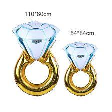 Grand 110cm Bague diamant Ballon d'hélium FLEURET fiançailles PROPOSER
