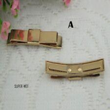 2 X Métal Femme Chaussure Sac A Main Nœud Charme Réparation Décoration Or