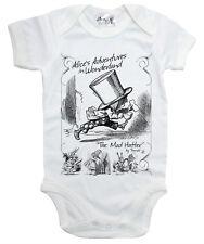 "Alice Wonderland Baby Bodysuit ""The Mad Hatter"" Babygrow Vest Clothes"