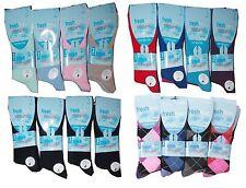 6, 12 Pairs womens Ladies Diabetic socks Non-Elastic cotton Ankles New  uk 4-7