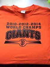 T-shirt SF GIANTS 3 time 10 12 2014 WORLD CHAMPIONS 3XL-Med San Francisco series