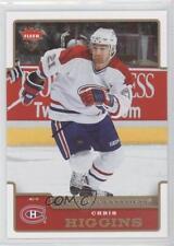 2006-07 Fleer #107 Chris Higgins Montreal Canadiens Hockey Card