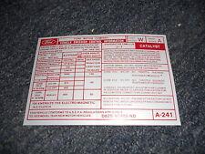 1978 FORD MUSTANG II / COBRA II 302 EMISSIONS DECAL
