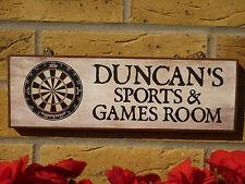 Signo Personalizado De Sala De Juegos Dardos Dart vuelos de sala de Pool de habitación tu propia redacción