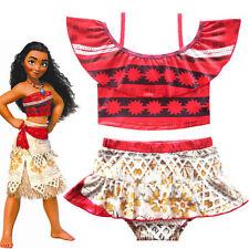 Cute Girls Toddlers Moana Swimsuit Swimwear 2pc Set Bathing suit Bikini 2T-10