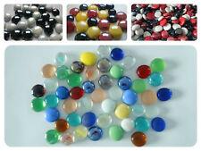 20Stk, 50Stk, Glasnuggets Muggelsteine Glassteine 17-20mm verschiedene Mix bunt