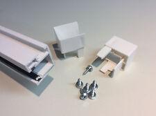 PVC Rollladen Führungsschienen  Rollladenführung 30x32mm 800mm - 2400mm