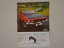 advertising Pubblicità 1971 OPEL MANTA SR