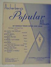 VOCAL ascherbergs POPOLARE ALBUM tenore CANZONI & Arias