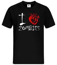 I Love Zombies T-Shirt Fun Shirt Kult Gamer WASD Zocker Shooter Sniper Resident