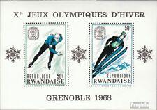Ruanda Block12A (kompl.Ausg.) postfrisch 1968 Olymp. Winterspiele ´68, Grenoble