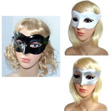Augenmaske Ballmaske Gesichtmaske Damenmaske Plastikmaske silber weiß Maske Dame