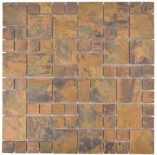 Mosaik Fliese Kupfer kupfer Kombination braun Fliesenspiegel|49-1502_f |10Matten