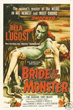 Bride of the monster Bela Lugosi vintage movie poster