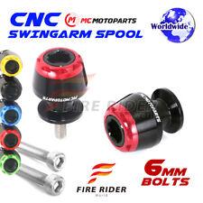 6mm Rear MSHINE Swingarm Spools Sliders For Yamaha YZF R1  1999-2014 99 00 01 02