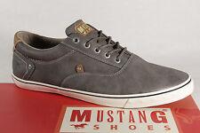 MUSTANG Zapatos de cordones hombre Zapatilla deporte BAJAS, gris suela goma 4103
