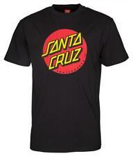 SANTA CRUZ T SHIRT HAND PRINT ON BACK   CORAL      £21.99