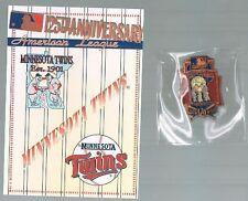 1994 125th Anniversary Team Logo Hat Pin MINNESOTA TWINS Est 1901 = NEW
