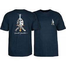 Powell Peralta Skateboard Shirt Skull & Sword Navy