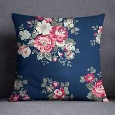 S4Sassy Floral Printed Dark Teal Blue Indian Sofa Cushion Cover -PAR-SUB-SAS47A