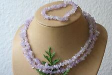 Lavendelquarz-Splitterkette+Armband Q-0237/D
