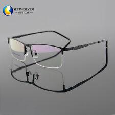 Designer Men Titanium Alloy Half Rimless Eyeglasses Frames Optical Eyewear RX