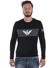 Emporio Armani Ea7 T Shirt Sweatshirt Cotton Man Black 6ZPT30PJ18Z 1200