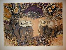 Georges Dayez Lithographie Originale signée numérotée art abstrait cubiste