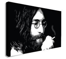 John Lennon Smoking -The Beatles - Canvas Wall Art Framed Print - Various Sizes