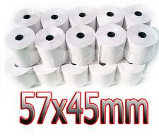 57x45mm CREDIT CARD MACHINE TILL ROLLS PDQ THERMAL PAPER ROLLS
