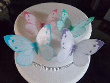 12 Precut Large Edible Butterflies for cakes/cupcakes