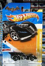 Hot Wheels 2011 #24 Arkham Asylum Batmobile BATMAN LOGO,VARIANT INTL CARD