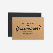 Will You Be My Groomsman Best Man Groomsmen Kraft Rustic Wedding Funny Shit