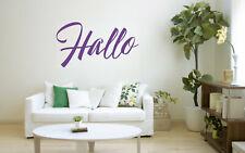 Hallo Quote, Vinyl Wall Art Sticker Decal Mural, Home, Bedroom, Mirror, Window