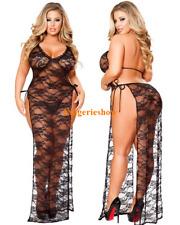 Plus Size Sexy Women's Lingerie Lace Dress Babydoll Nightwear Sleepwear G-String