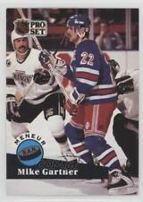 1991-92 Pro Set French #604 Mike Gartner New York Rangers Hockey Card